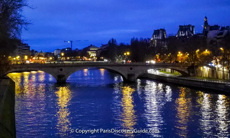 Seine River in Paris at night
