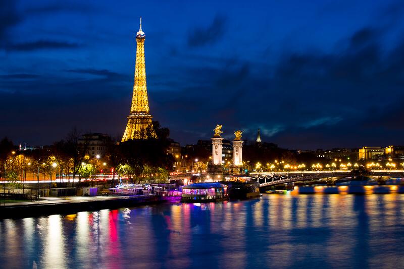 Seine River in Paris at night