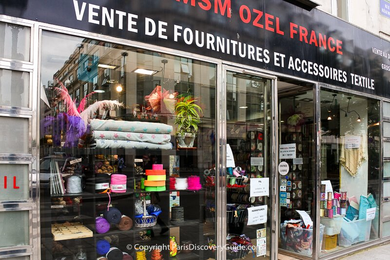 Fabric and trim wholesale store in the Sentier neighborhood
