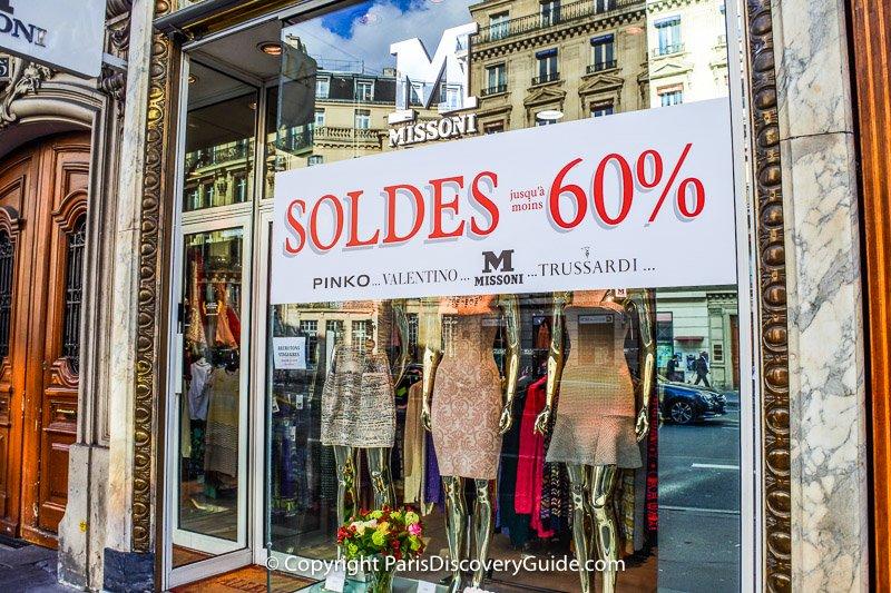 Paris sales - Missoni, Pinko, Valentino, Trussardi