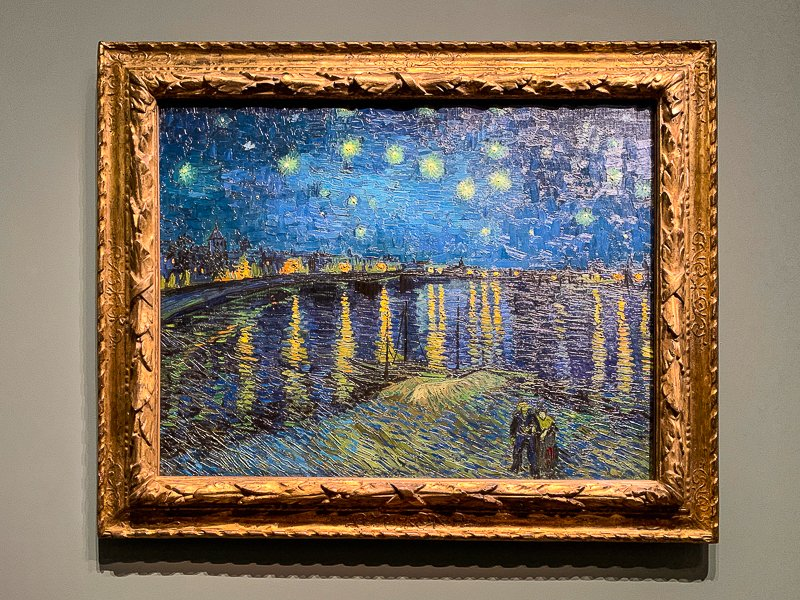 Starry Night Over the Rhône, painted by Vincent van Gogh in 1888