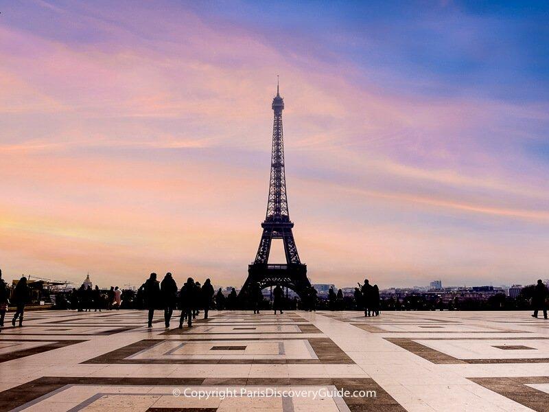 Eiffel Tower seen fro Trocadéro terrace