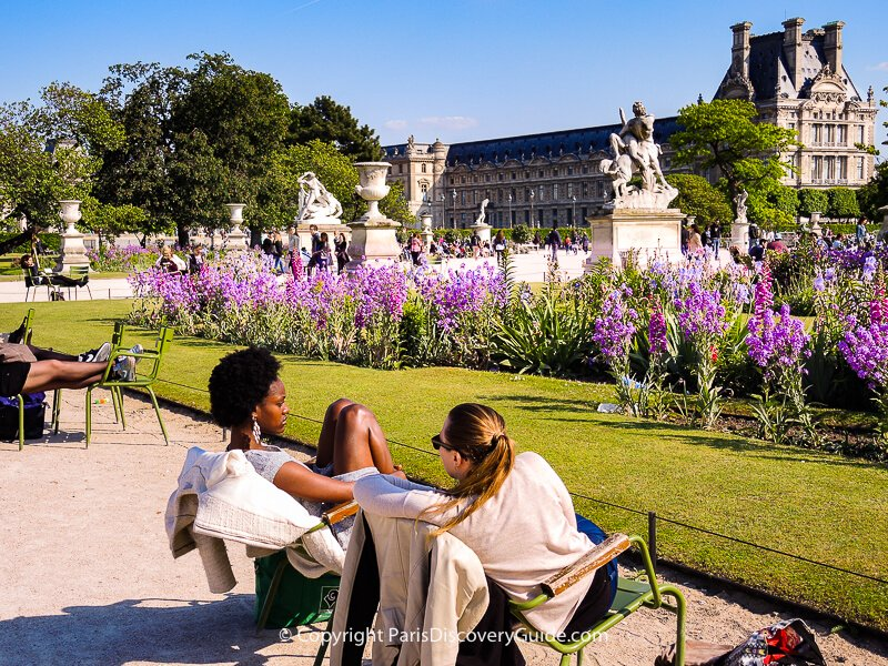 Tuileries Garden and Palais du Louvre in May