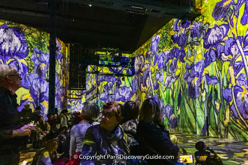 Previous show at the Atelier des Lumières