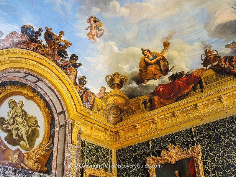 Ceiling painting in the Room of Abundance in the King's State Apartments