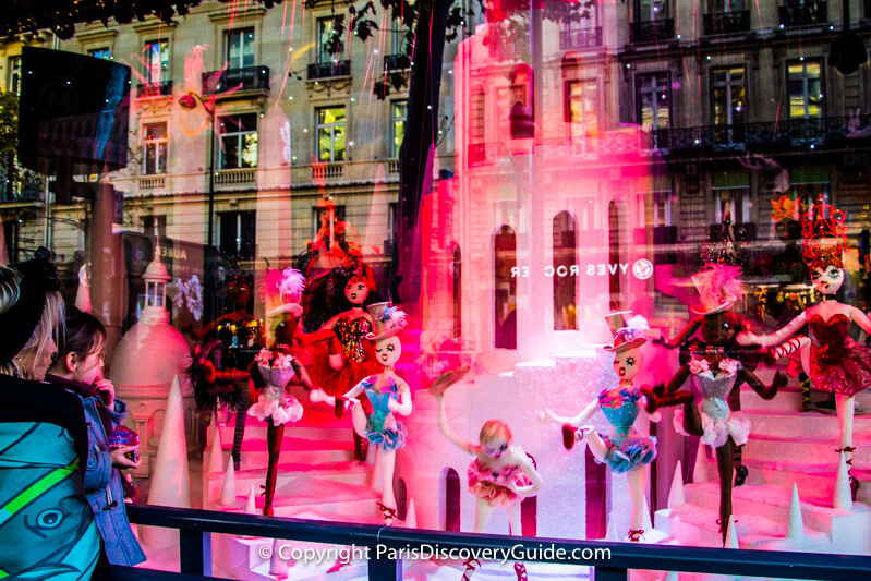 Galeries Lafayette Christmas display in store window