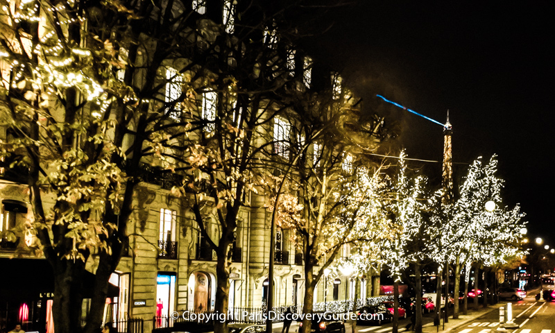 Avenue Montaigne Christmas Lights
