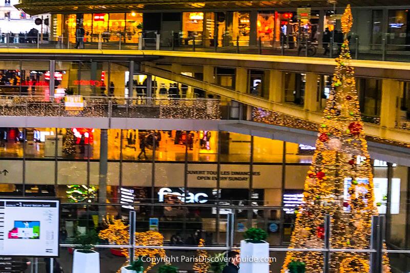 Paris Christmas Market in Canopée des Halles