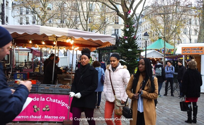 Paris Christmas Market in Montmartre, Place des Abbesses