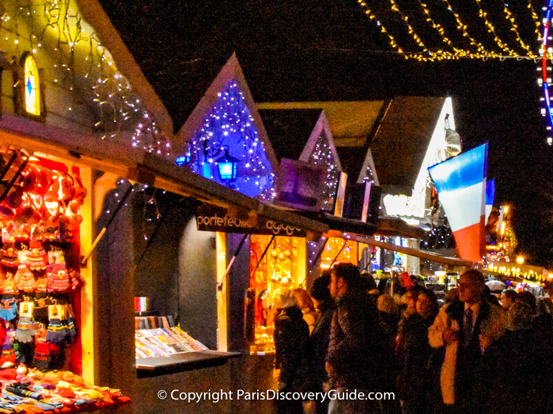 look for these champs lyses chalets at the new tuileries garden christmas market location