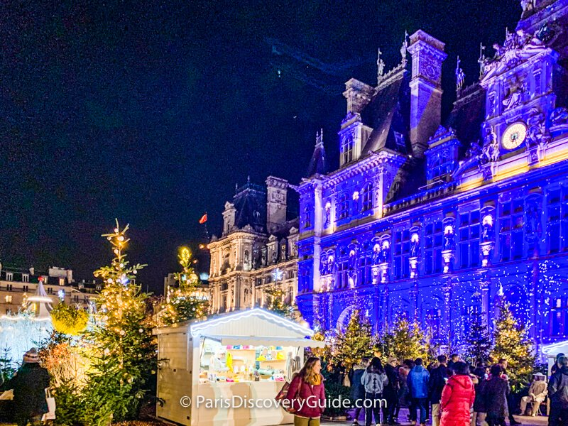 Paris Christmas Market in front of Hotel de Ville