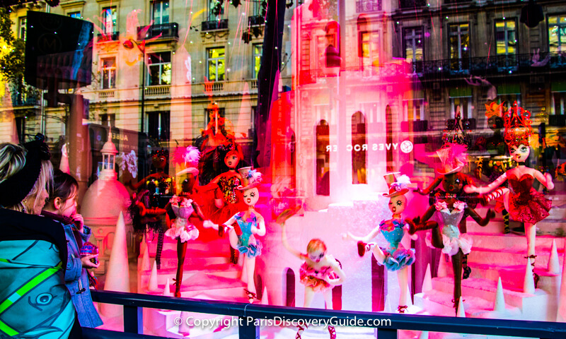 Galeries Lafayette Christmas display in store window
