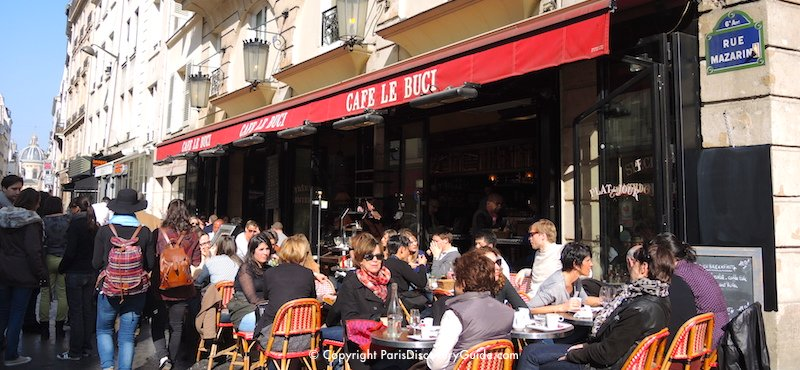 Parisian cafe in the 6th Arrondissement on rue de Buci