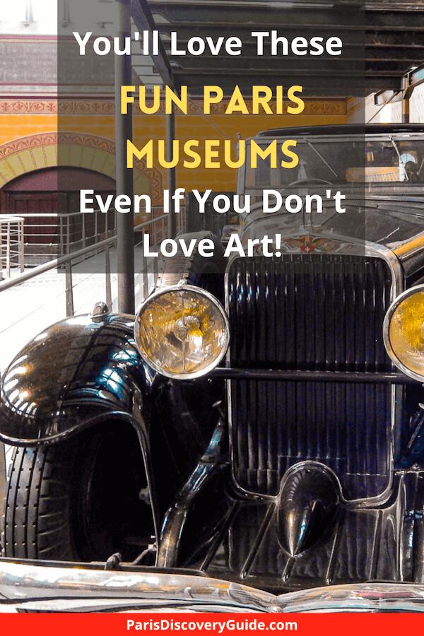 Antique auto at theArts & Crafts Museum in Paris