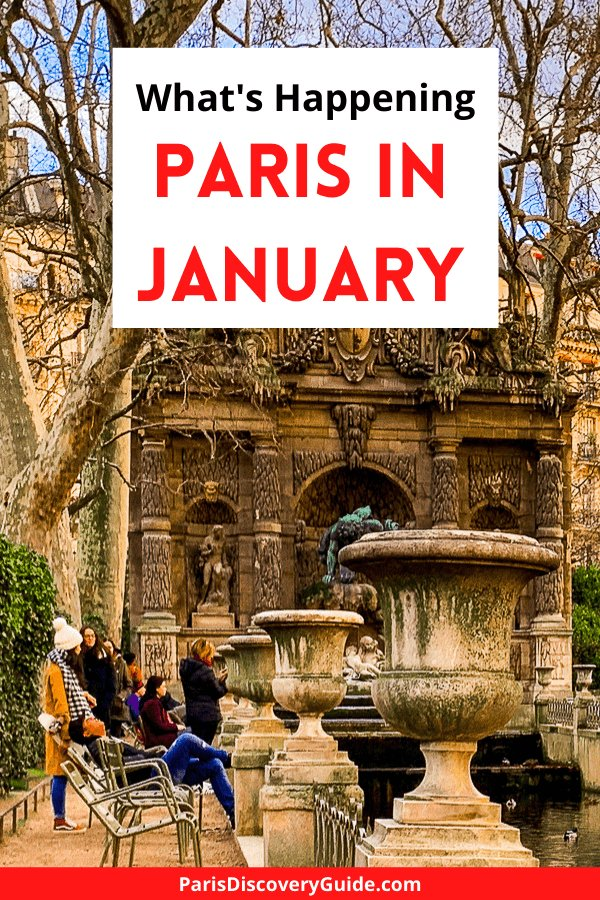 Medici Fountain at Luxembourg Garden in Paris in January