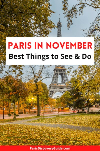 Champ de Mars near the Eiffel Tower in November