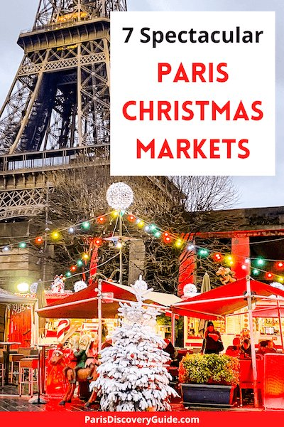 Christmas Market near Eiffel Tower in Paris
