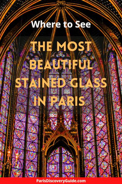 Stained glass windows in SainteChapelle, Paris