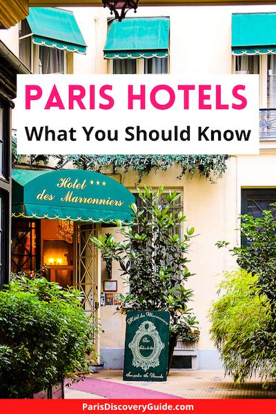 Paris hotel in the Saint Germain des Prés neighborhood